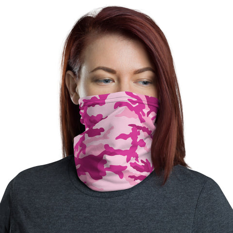 Pink Camo Neck Gaiter - For Grown Folks Only Merch