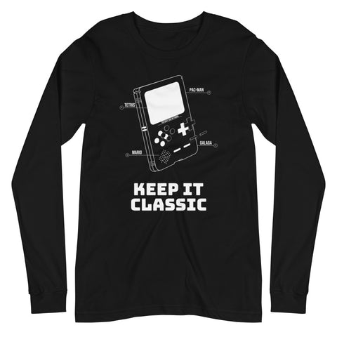 Classic Gamer Long Sleeve T-Shirt - For Grown Folks Only Merch