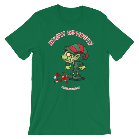 Naughty And I Love It Christmas T-Shirt
