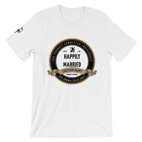 Certified Married (White) Graphic T-Shirt - For Grown Folks Only Merch