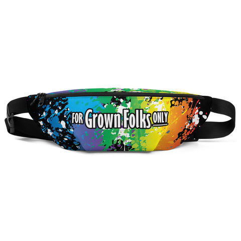 Summer Fun (Black) Fanny Pack - For Grown Folks Only Merch