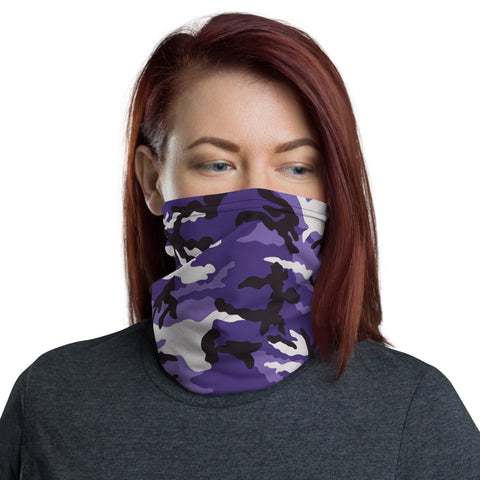 Purple Camo Neck Gaiter - For Grown Folks Only Merch