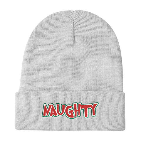 Naughty Christmas Cuffed Beanie