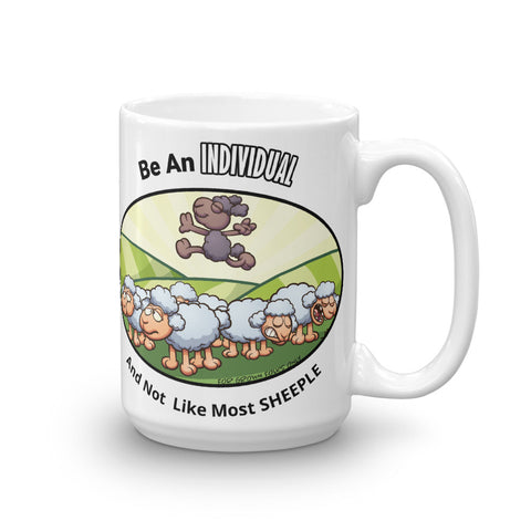 Positive Individual Sheeple 15oz Mug - For Grown Folks Only Merch