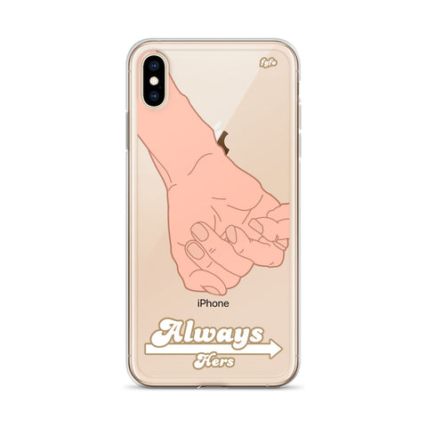 Light Skin Couple Always Hers: iPhone 6 - XS Max Nude Case - For Grown Folks Only Merch