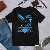Everyday Mom (Black/Blue) Graphic T-Shirt - For Grown Folks Only Merch