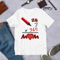 Everyday Mom (White/Red) Graphic T-Shirt