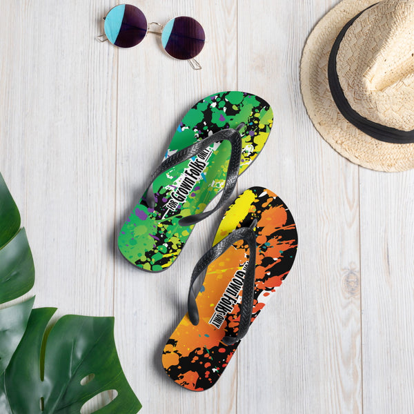 Summer Fun (Black) Flip-Flops