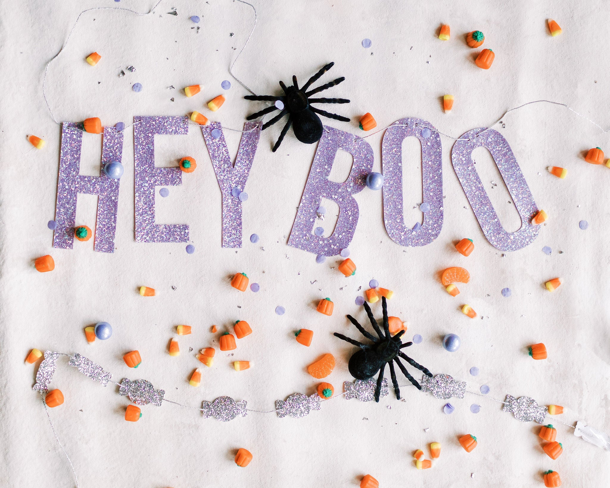halloween decor and hey boo banner