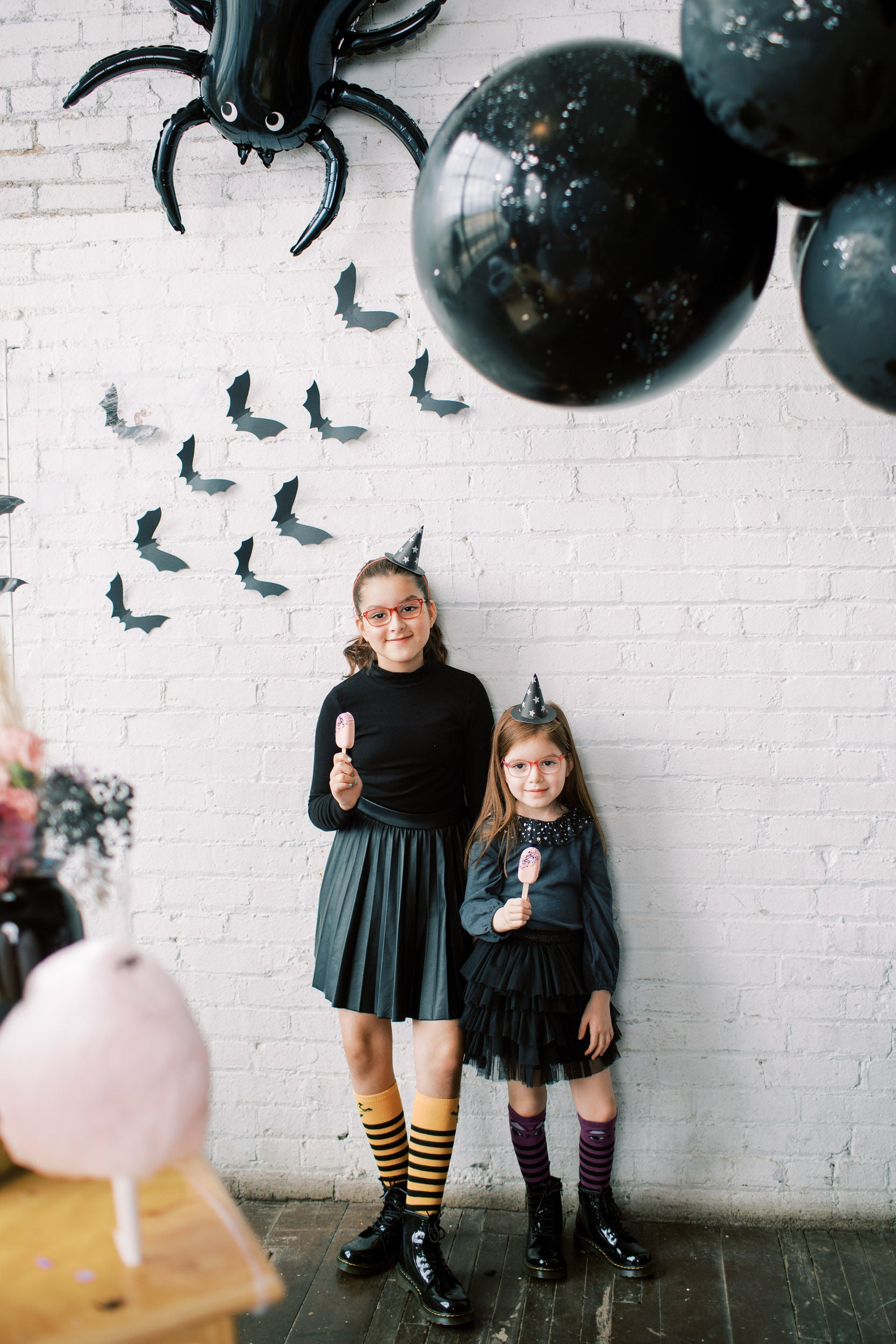 hocus pocus halloween party and glittery bats