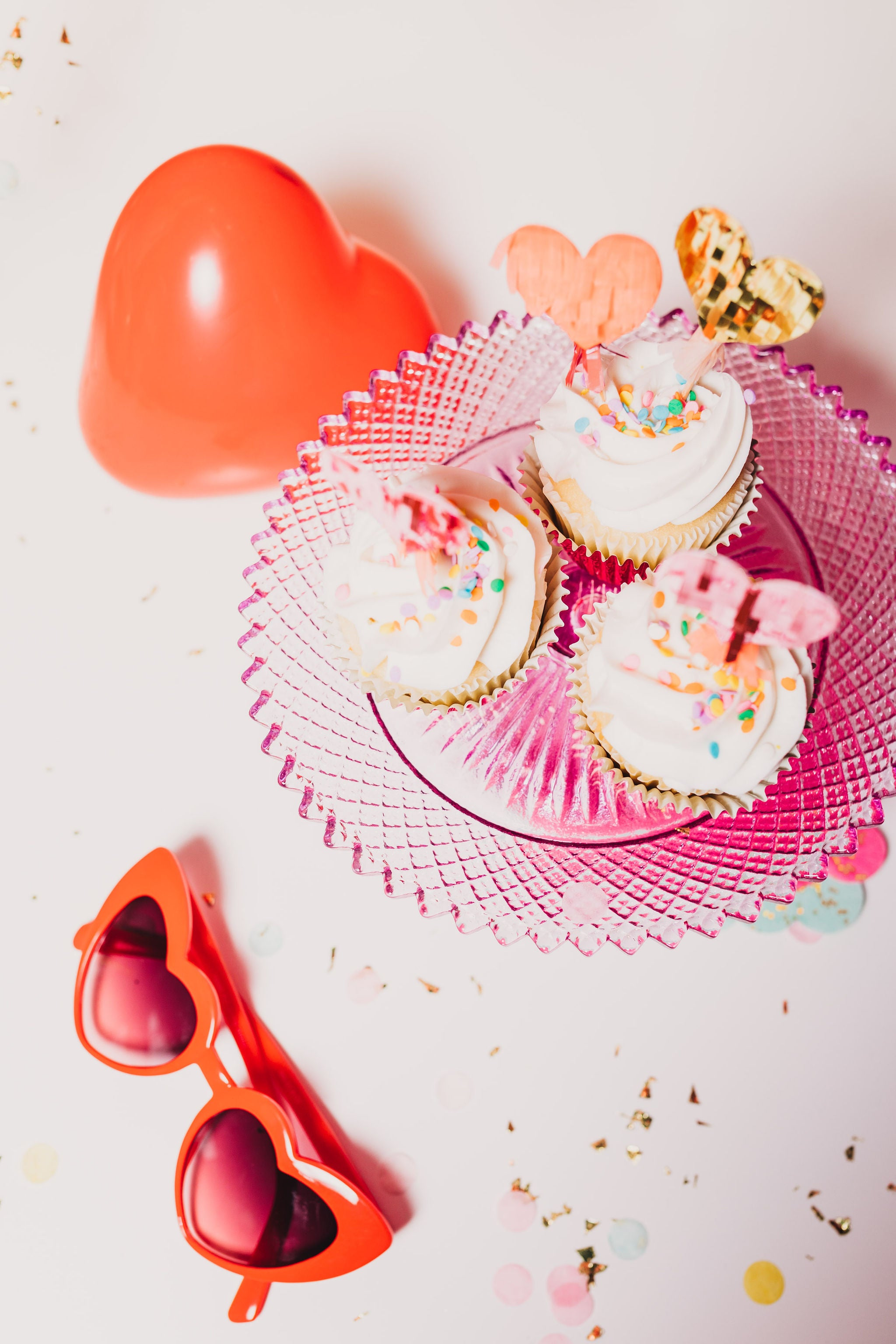 heart pinata cupcake toppers