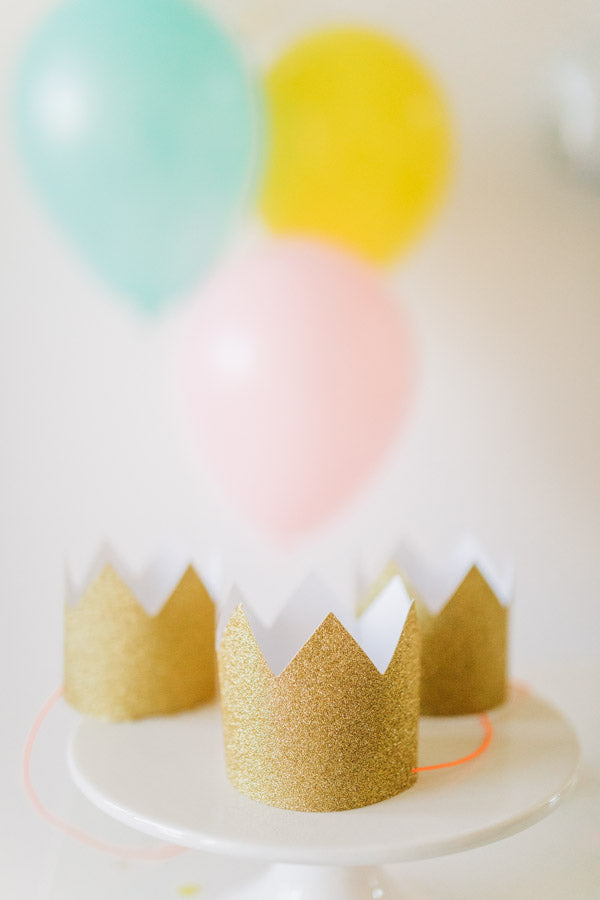 unicorn birthday party gold crowns