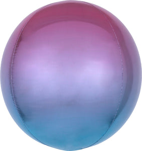 "16"" ORBZ OMBRE PURPLE & BLUE BALLOON"