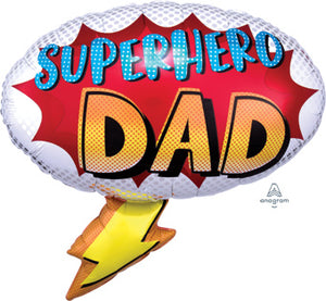 "27"" SUPERHERO DAD BALLOON"