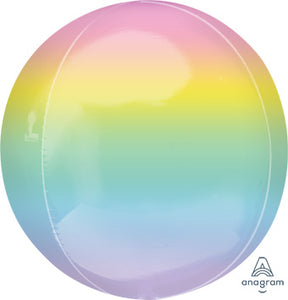 "16"" Orbz Pastel Rainbow Balloon"