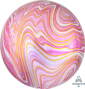 "16"" Marbled Pink Orbz Balloon"