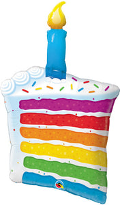 "42"" Rainbow Cake Balloon"