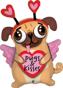 "36"" Pugs and Kisses Balloon"