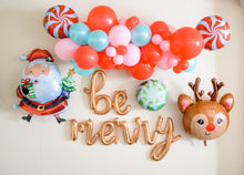 Load image into Gallery viewer, BE MERRY SCRIPT BALLOON BANNER (Air Fill Only)