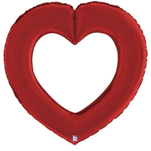 "41"" Linking Heart Satin Red Balloon"