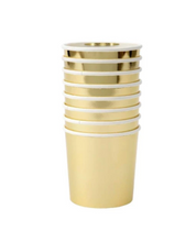 Load image into Gallery viewer, Meri Meri Gold Tumbler Cups