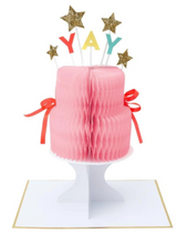 Load image into Gallery viewer, Meri Meri YAY! Cake Stand-Up Card