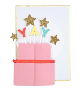 Meri Meri YAY! Cake Stand-Up Card