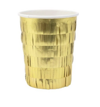 Load image into Gallery viewer, Meri Meri Gold Fringe Party Cups
