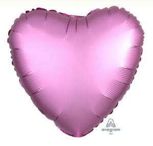 "18"" Flamingo Pink Heart Balloon"