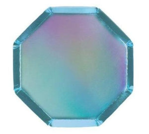 Meri Meri Holographic Blue Cocktail Plates