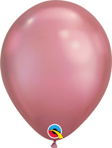 "11"" Mauve Chrome Latex Balloons (6 count)"