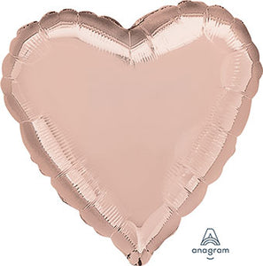 "18"" Rose Gold Heart Balloon"
