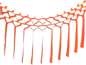 Orange Tissue Streamer Garland