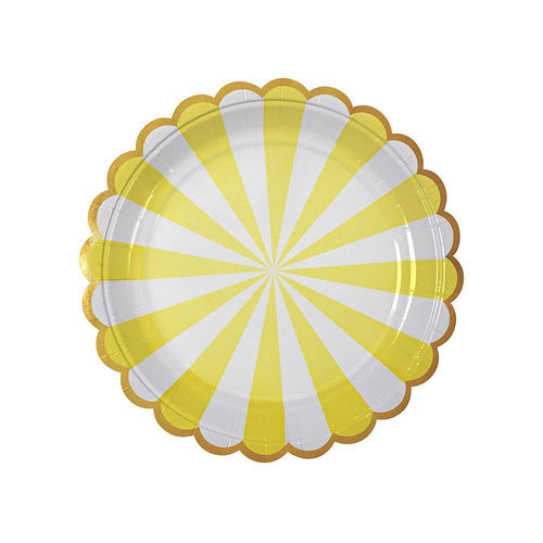 Yellow Fan Stripe Small Plates