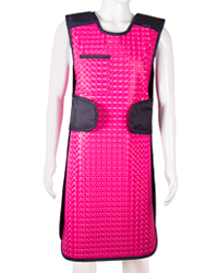 Image of a pink front lead apron