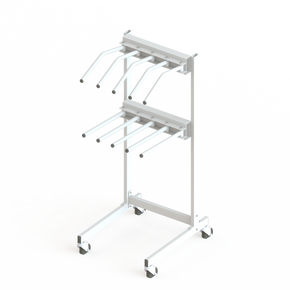 Mobile Lead Apron Rack for Five Tops & Skirts