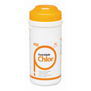 PDI Sani-Cloth +1000 Chlorine Wipes (50ct canister) - Effective against Corona Virus