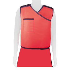 Full-Wrap Lead Apron Vest Front View - Deutsch Medical