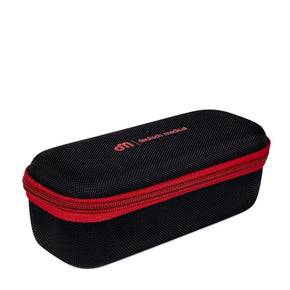 hard case for lead glasses in black with red zipper - Deutsch Medical