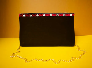 Statement Clutches Chanchal Black hathi Rajasthan fashion sustainable fashion brands in Bangalore