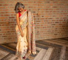 Load image into Gallery viewer, Light Beige Brown Tussar Silk Saree