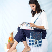 Load image into Gallery viewer, Indigo Ajrakh Sling Bag