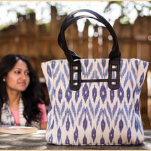 Load image into Gallery viewer, Ikat White Tote Bag
