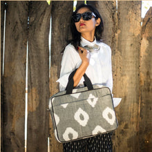 Load image into Gallery viewer, Ikat Grey Laptop Sleeve