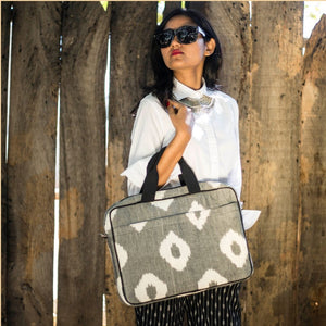 Ikat Grey Laptop Sleeve