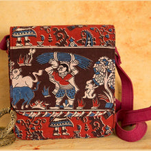 Load image into Gallery viewer, Kalamkari Maroon Sling Bag