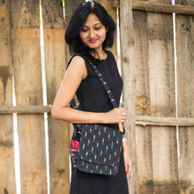 Load image into Gallery viewer, Ikat Black Sling Bag