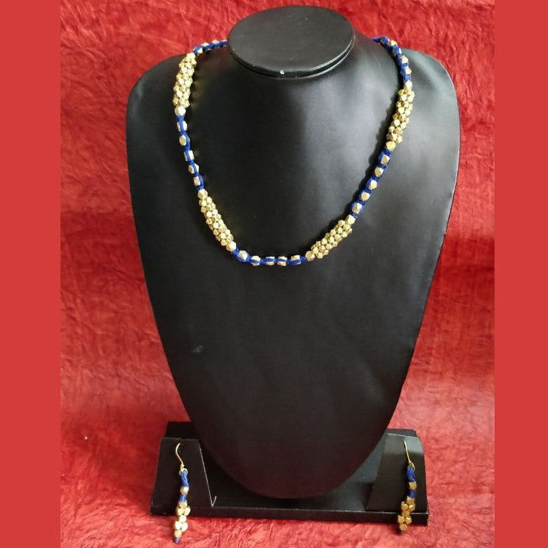 Dokra Blue Jewelry Set