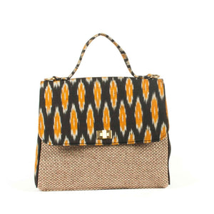 Ikat Black Chevron Handbag