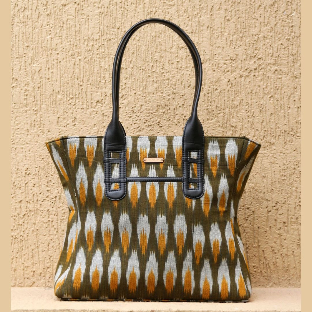 Ikat Green Tote Bag